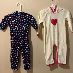 2 Girls 12-18 month one piece outfit, only 1 NWT